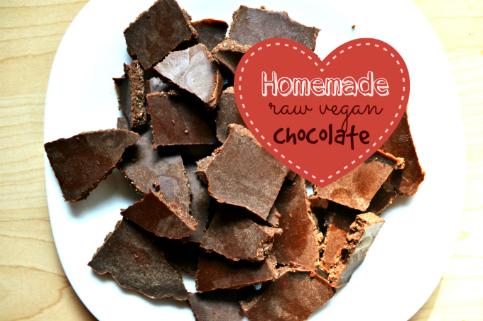 Homemade Raw Vegan Chocolate