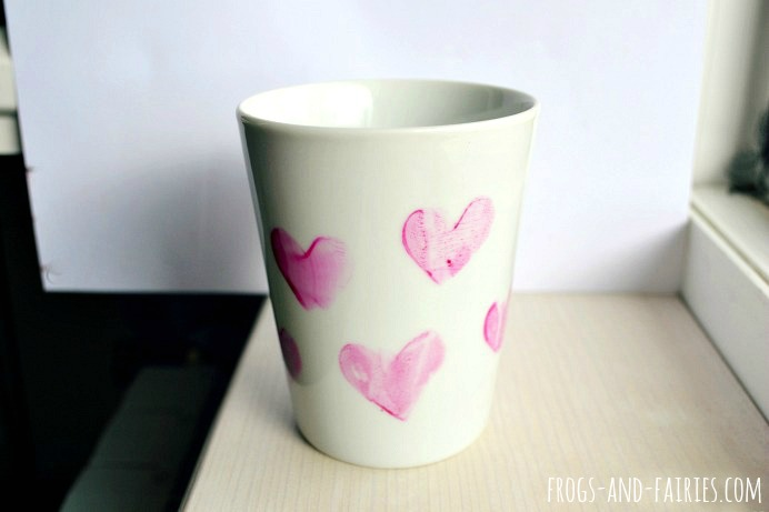 How to Decorate a Mug with Homemade Stamps