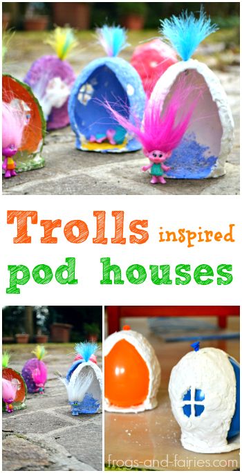 Trolls Inspired Pod Houses
