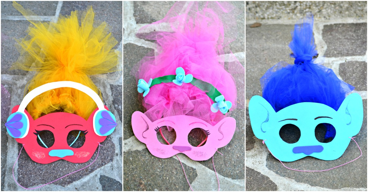 Diy Trolls Inspired Masks And Hair Headbands Frogs And