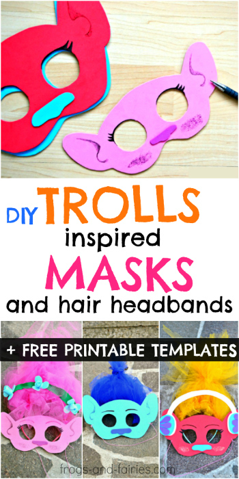 DIY Trolls Inspired Masks and Hair Headbands