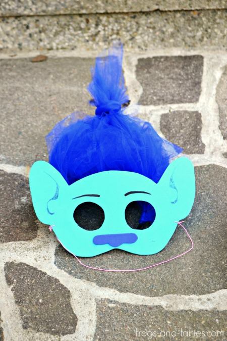 DIY Trolls Inspired Masks and Hair Headbands: BRANCH