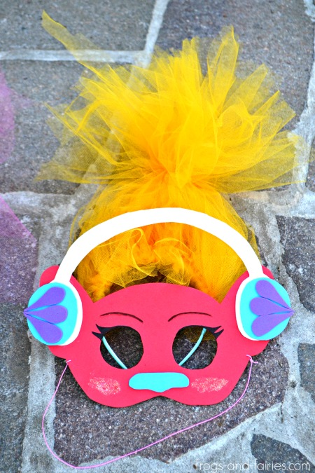 DIY Trolls Inspired Masks and Hair Headbands: DJ SUKI
