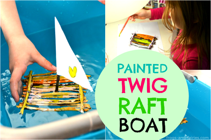 Painted Twig Raft Boat