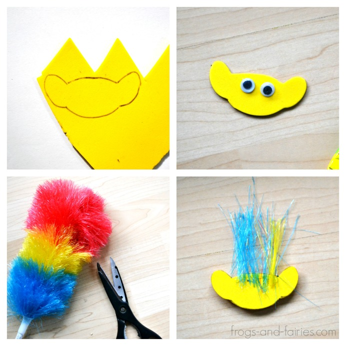 Trolls inspired Hair Clips