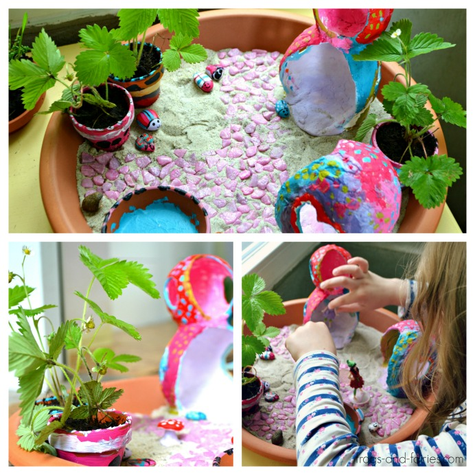 Sand Fairy Garden and Enchanted Clay Houses