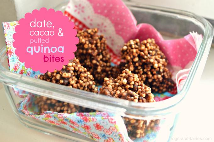 Date, Cacao & Puffed Quinoa Bites