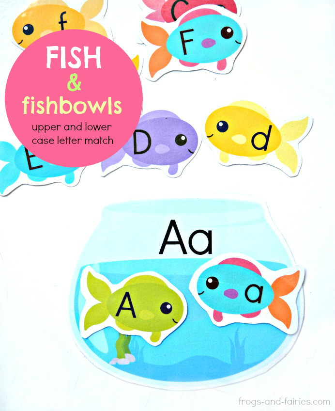 Fish and Fishbowls Upper and Lower Case Letter Match