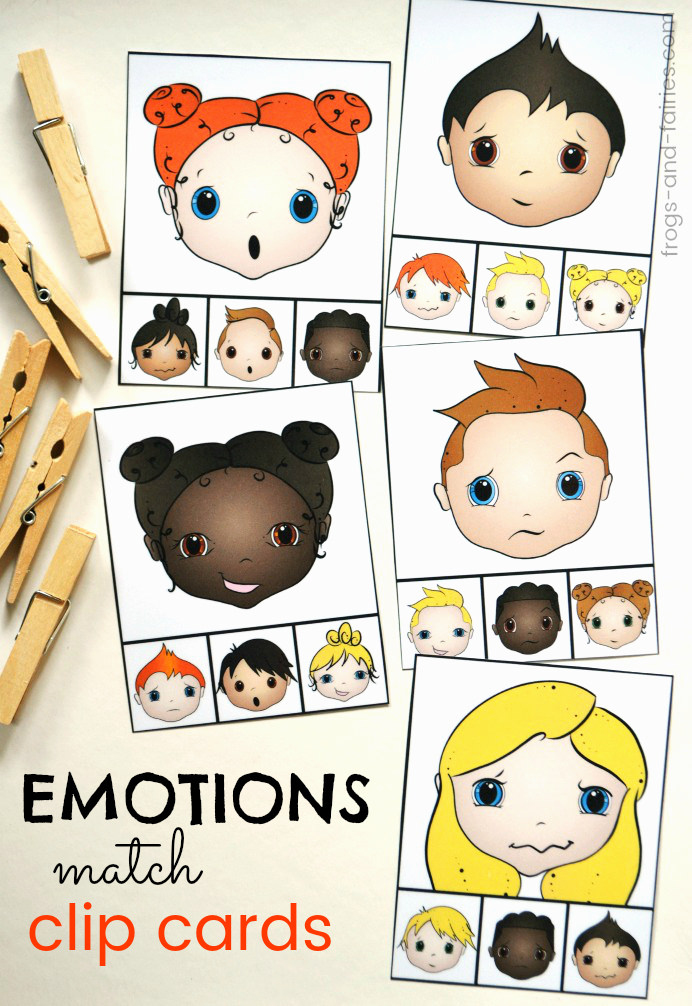 Emotions Match Clip Cards