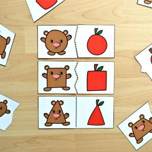 Bear & Apple Shape Matching Puzzles
