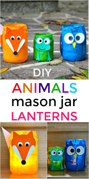 DIY Animal Mason Jar Lanterns