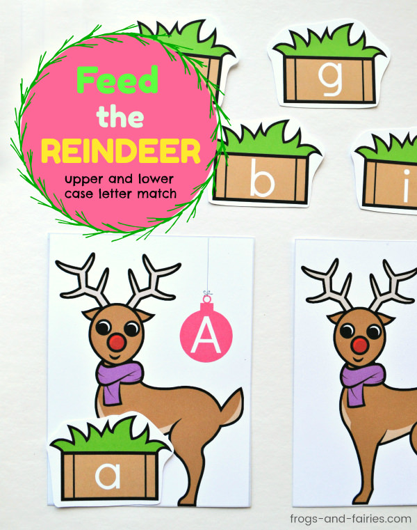 Feed the Reindeer Upper and Lower Case Letter Match