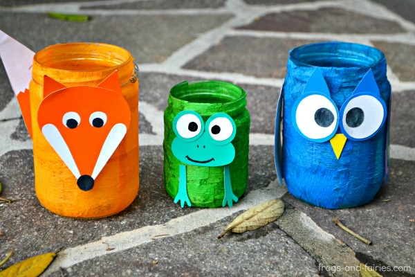 Animal Mason Jar Lanterns