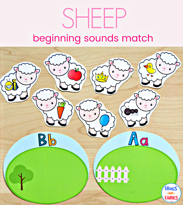 Sheep Beginning Letter Sound Match