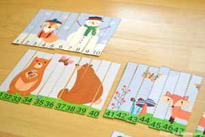 Woodland Wonderland Counting Puzzles Printable - Numbers 1-120