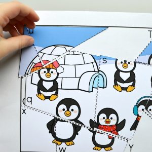 Winter Letter Matching Puzzles Printable