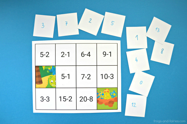 Addition and Subtraction to 20 Puzzles