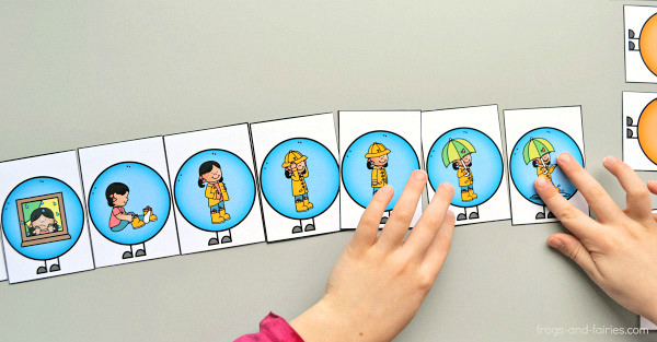 graphic about Story Sequencing Cards Printable known as Caterpillar Sequencing Playing cards - Frogs and Fairies