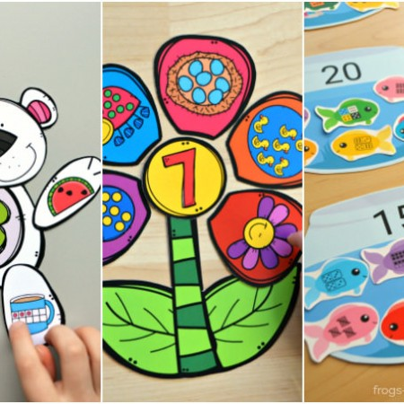 Number Match Printable Activities Bundle