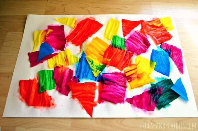 Crepe Paper Bleeding Art