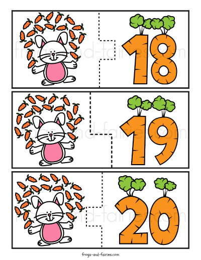 Bunny & Carrots Counting Puzzles