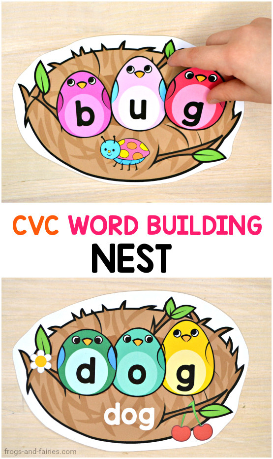 CVC Word Building Nest Printable Activity