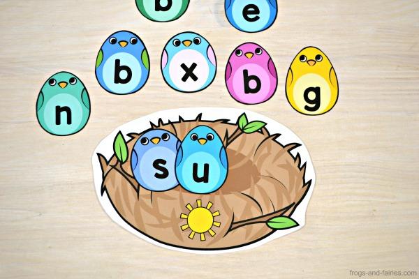 CVC Word Building Nest