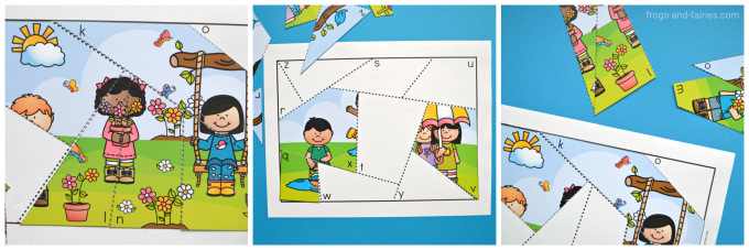 Seasons Letter Matching Puzzles Bundle