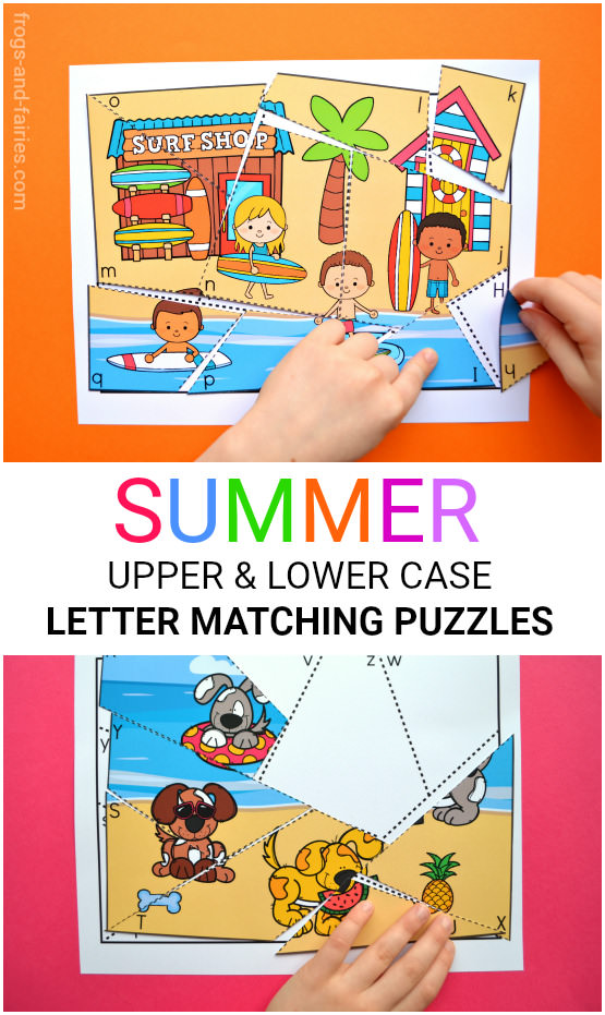 Summer Letter Matching Puzzles