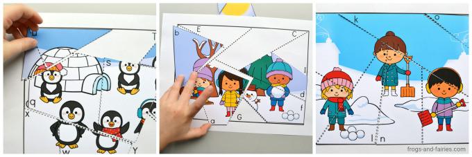 Seasons Letter Matching Puzzles Bundle