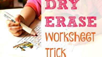 Photo of Dry Erase Worksheet Trick