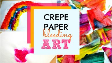 Photo of Crepe Paper Bleeding Art