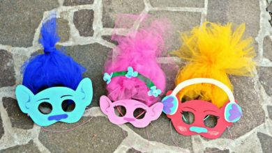 Photo of DIY Trolls Inspired Masks and Hair Headbands