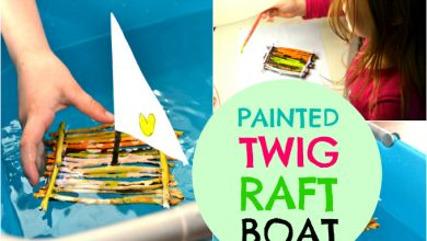 Photo of Painted Twig Raft Boat