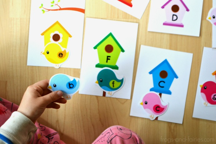 Letter Matching Printable Activities - Letter Match Bundle