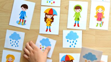 Photo of Rainy Day – Count and Match #1-12