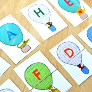 Hot Air Balloons and Animals – Beginning Letter Sound Match