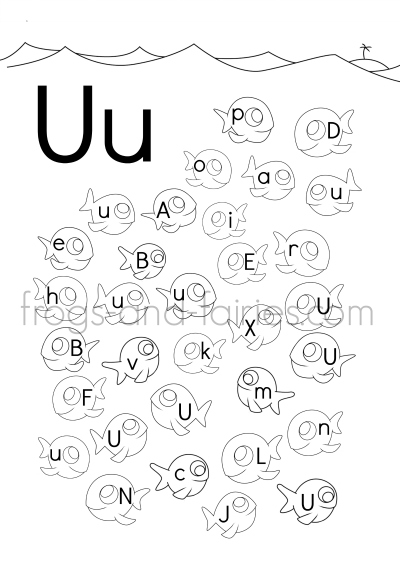 Fish Alphabet Upper amp Lower Case