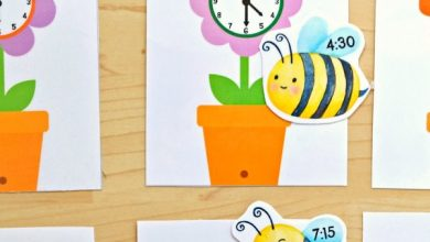 Photo of Telling Time Bees and Flowers Match