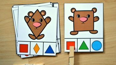 Photo of Bear Shape Match Clip Cards