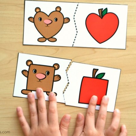 Bear-and-Apple-Shape-Puzzles-0