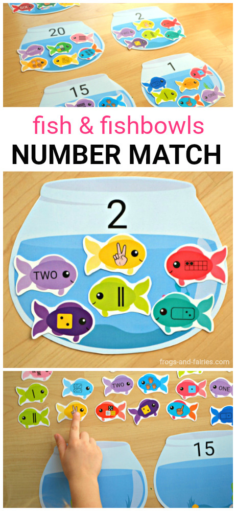 Fish and Fishbowls Number Match