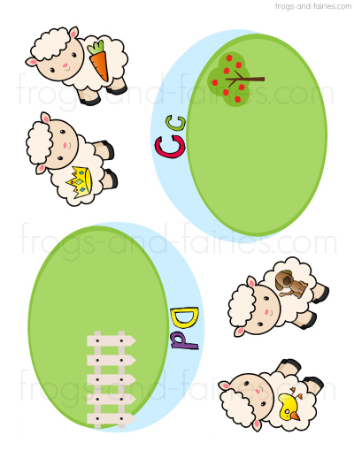 Sheep Beginning Letter Sounds Match Printable
