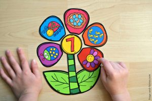 Build a Flower Number Match