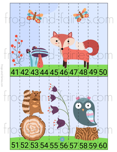 Woodland Wonderland Counting Puzzles Printable