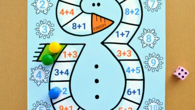 Photo of Snowman Addition to 10 Board Game