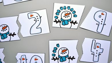 Photo of Snowman Counting Puzzles
