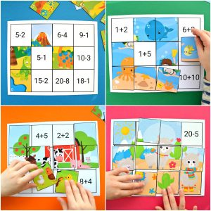 Addition & Subtraction to 20 Puzzles