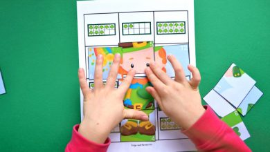 Photo of St. Patrick's Day Ten Frame Counting Puzzle