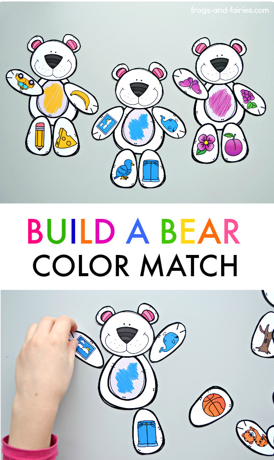 Build a Bear Color Match Printable